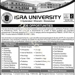 Faculty Positions – Isra University – Hyderabad, Karachi and Islamabad