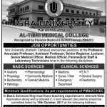 Jobs in ISRA University Karachi Campus Sindh Pakistan 2011