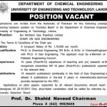 UET Lahore Jobs in Pakistan 2011