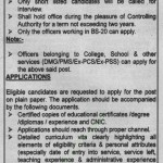 Chair Man Jobs In Higher Education Department Punjab October 2011