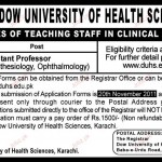 Dow University of Health Sciences Assistant Professor Job