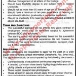 Job for Principal In Lawrance College Murree