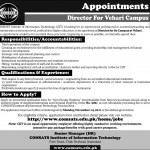 Jobs In COMSATS Vehari Pakistan 2011