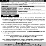 Jobs in Comsats Institute of Information Technology Wah Cantt