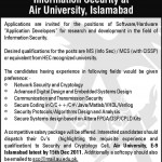 Jobs in AIR University Islamabad