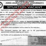 Research Associate Jobs in Arid University Rawalpindi