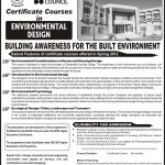 Aiou Admission Open In Environmental Design Spring 2012