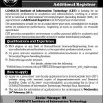 COMSATS Insitute of Information Technology Islamabad Jobs