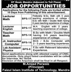 Faizul Islam Institute of Technology Jobs 2012