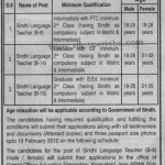 Male Female Teacher Require At Karachi Govt School Sindh