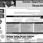 NTS Educators Jobs 2012
