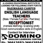 English Language Teachers Rquire In Domino English Learning Center In Karachi