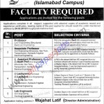 Faculty Job in University of Lahore Jobs