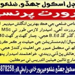Principal Require In Crescent Model School Mirpurkhas