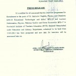 Sindh Public Service Commission Interview Notification of Various Post