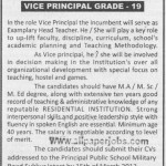 Vice Principal Job In Sukkur Public School 2012