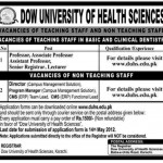 Dow University of Health And Sciences Jobs 2012