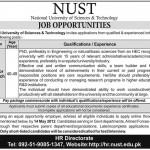 NUST University Islamabad Jobs 2012