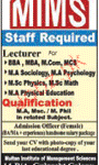 Staff Required At MIMS College Multan