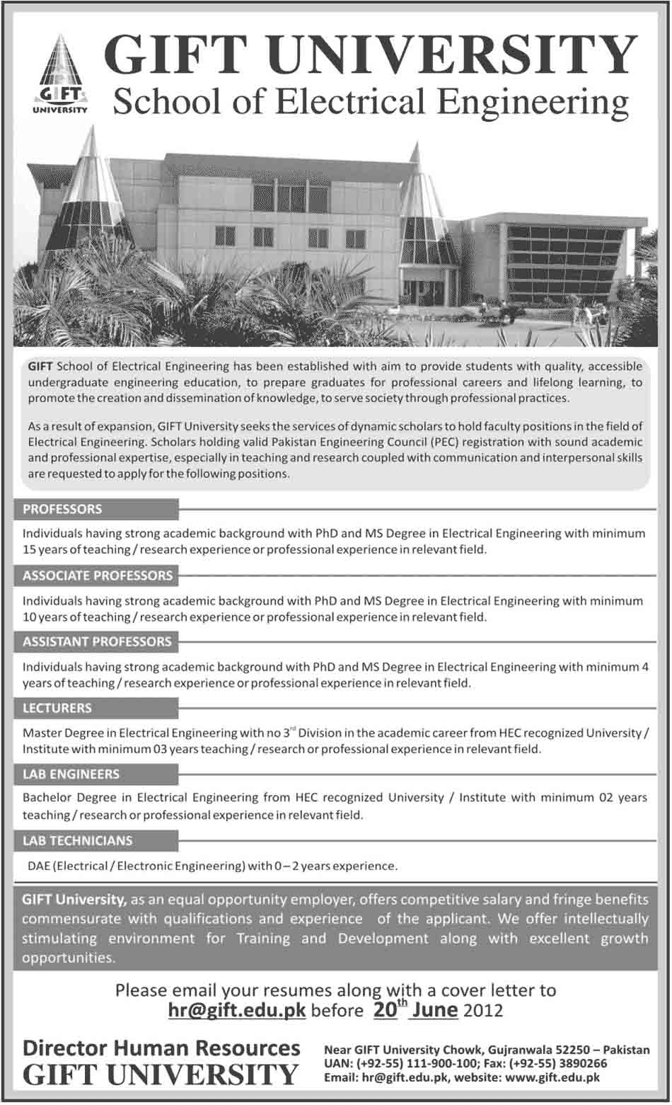 Gift university gujranwala jobs 2012 negle Image collections