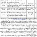 Govt of Punjab Educators Jobs 2012 in Sahiwal District