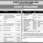 Cadet College Panu Aqal Staff Required