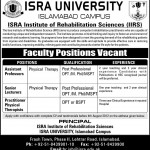 Faculty Required Isra University Islamabad Campus 2012