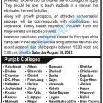 Punjab Group Of Colleges Jobs in all Cities 2012