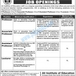 Staff Required at Ali Institute of Education Lahore