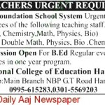 Jobs In Air Foundation School System Haripur KPK 2012
