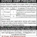 Jobs in English Medium School Haripur KPK 2012