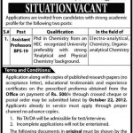 Assistant Professor Required At University of Sindh