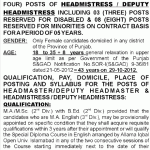Headmaster, Deputy Headmaster (Male) & Headmistress, Deputy Headmistress (Female) Jobs in Govt Schools