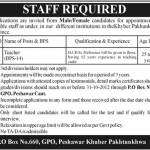 Teachers Required In A Public Sector Organization