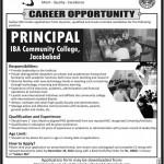 IBA Community College Jacobabad Jobs 2012