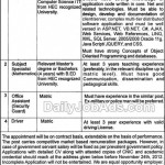 Punjab Education Foundation Lahore Jobs 2012