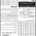 Sindh Public Service Commission Jobs, Hyderabad 2012