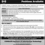Assistant Professor Required In Comsats Islamabad
