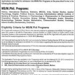 Bahauddin Zakariya University Multan Admissions 2013