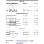 Sample Academic Curriculum Vitae