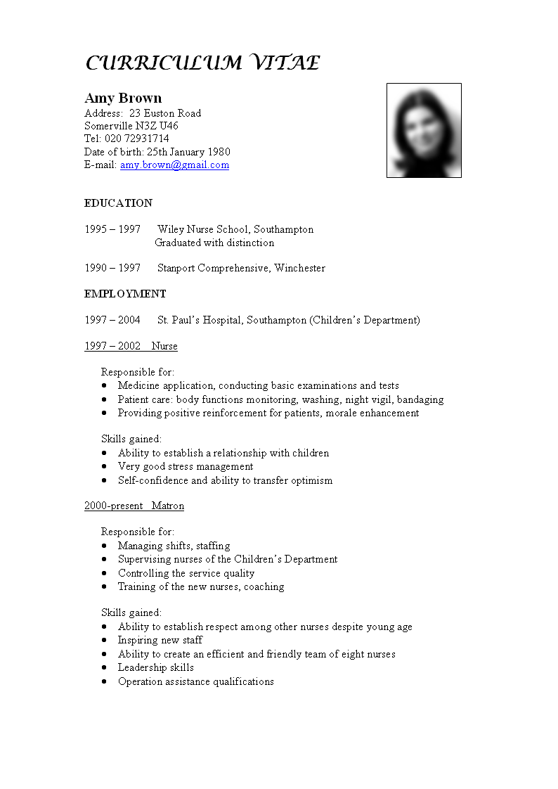 What to Include in a CV ?