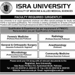 ISRA University Hyderabad Sindh Jobs 2013