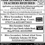 Teachers Jobs at  Hira National Education Foundation Rawalpindi