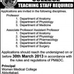 Women Medical College Jobs 2013