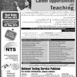 NTS Teaching Jobs 2013