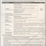 National Textile University Faisalabad Jobs 2013