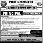 Principal Career Opportunity At Sukkur IBA