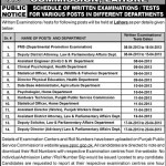 Various Job Posts Vacant At Punjab Public Serice Commission, Lahore