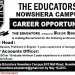 Jobs In The Educators Nowshera 2013