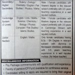 Teaching Staff Required At Bahria College Karachi